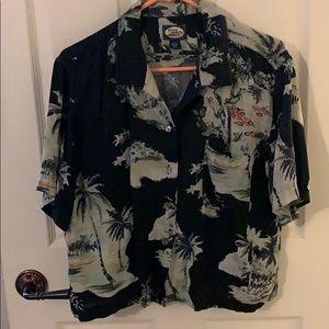 Tommy Bahama woman's Hawaiian shirt. Great cond.